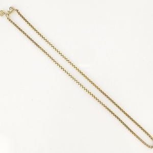 David yurman 1.7mm 18k gold box chain 20""